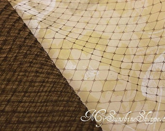 French Netting for Bird Cage Veil - BROWN