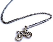 """Tiny Bicycle 18"""" Necklace"""