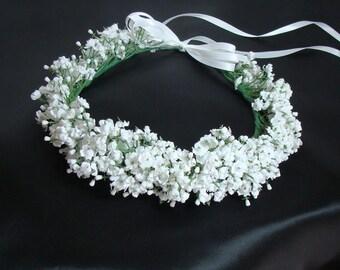 Wedding White Bridal Flower Head Wreath by Susan Carol Bridal
