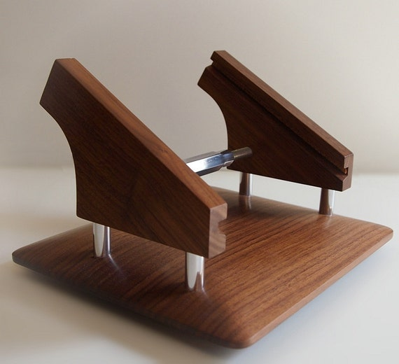 The original wood iPad stand for the Square payment system, point of sale, cash register, Intra-Stand