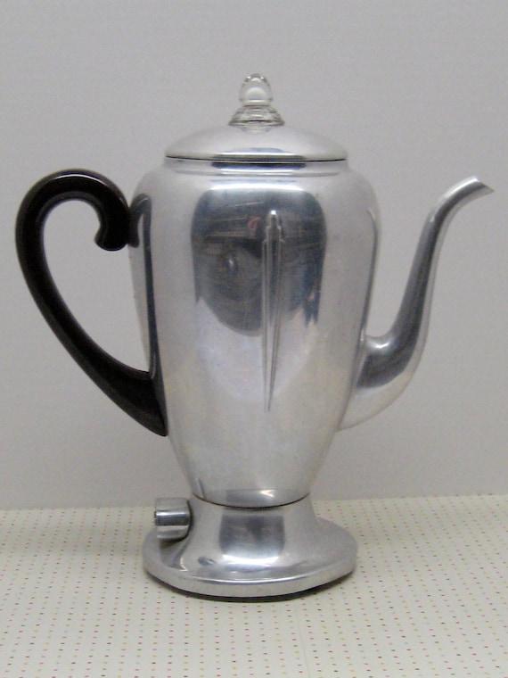 Vintage Industrial Design Mirro-Matic Percolator Aluminum 8 Cup