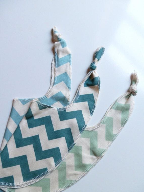 Chevron Bibs, Pick 3, Bright Colored Organic Cotton Bibs, Neutral Baby Gift