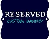 RESERVED for Amelia - Custom Kappa Kappa Gamma Banner (1/2 Payment)