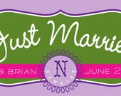"""RESERVED for Sara - Custom Banner """"Just Married"""" (Final Payment with Shipping)"""