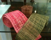 Hand-Dyed Burlap Netting, 10-yard Roll, 6 Inches Wide, Available in Raspberry, Moss, Chocolate, Ivory, Lemon, and Russet