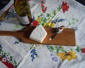 Reclaimed Vintage Red Oak wood cutting/serving cheese and bread board
