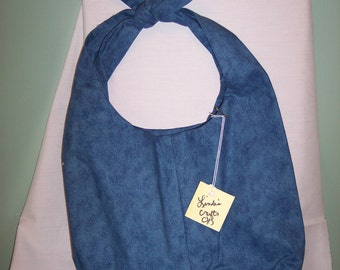 Blue denim tie top Clearance bag Was 15.00, Girls blue denim  purse, blue denim Colored Tie top bag,gifts for Her,gift for Teen Girl