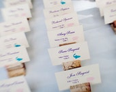 Cork Place Card Holders, Perfect for vineyard wedding. 25 or more