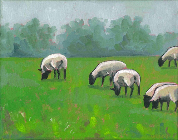 Sheep at the Ville Archival Print