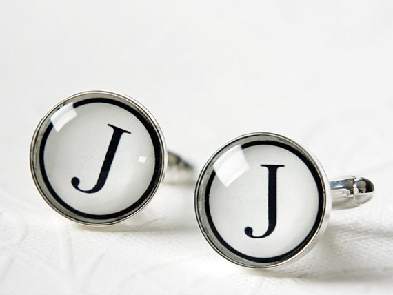 Holiday Gifts for Men - Monogrammed Cufflinks - Cool and Unique Gifts for Groom, Best Man and Groomsmen - Personalized Cufflinks
