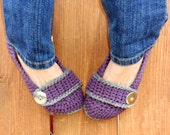 Stormy weather slippers, crochet slippers, purple slippers, womens slippers, crochet booties, crochet socks, crochet shoes, winter slippers