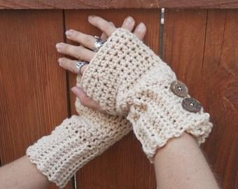 warm oats fingerless gloves, arm warmers, wrist warmers, hand warmers, crochet fingerless gloves, texting gloves, mittens, warm gloves