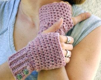 Rose fingerless gloves, arm warmers, wrist warmers, crochet arm warmers, crochet fingerless gloves, texting gloves, mittens, festival gloves