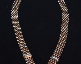 Vintage goldtone chunky necklace