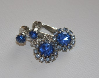 Beautiful Blue rhinestone earrings fom Celebrity