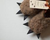 Bear Feet - Felted Wool Slippers - Kids size