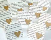 Love mini cards Heart mini cards Blank mini note cards Set of 10 Upcycled mini cards Princess in waiting
