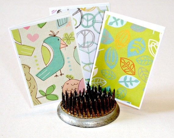 Assorted blank mini card set, any occasion Thank you notes packaging cards personal greetings Set of 10