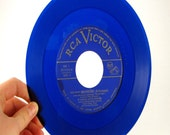 Vintage Blue Record for Supplies or Decoration RCA Victor