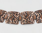 Wide Copper Linked Bracelet