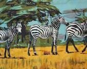 African Zebra Scene Souvenir Scarf