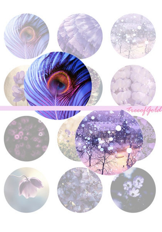 Instant download - 1 inch Digital Bottle Cap Violet Flower, Nature Photo Collage Work,  25mm or 1 inch Graphic For Jewelry Making