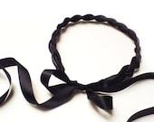 2 Zipper headband braided, unique head piece.