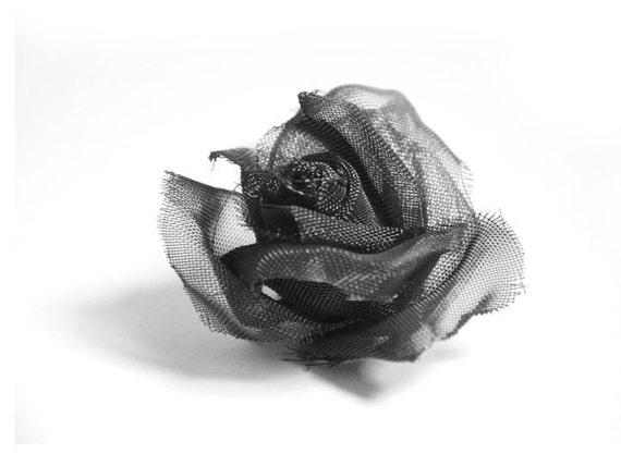 Black Rose mesh art print card - Le Rouge et Le Noir inspiration, HOME decor.