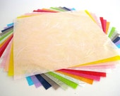 Mulberry handmade paper - 16 multicolored sheets, craft supplies, cards, origami, tiny gift wrap, japanese scrapbook paper pack