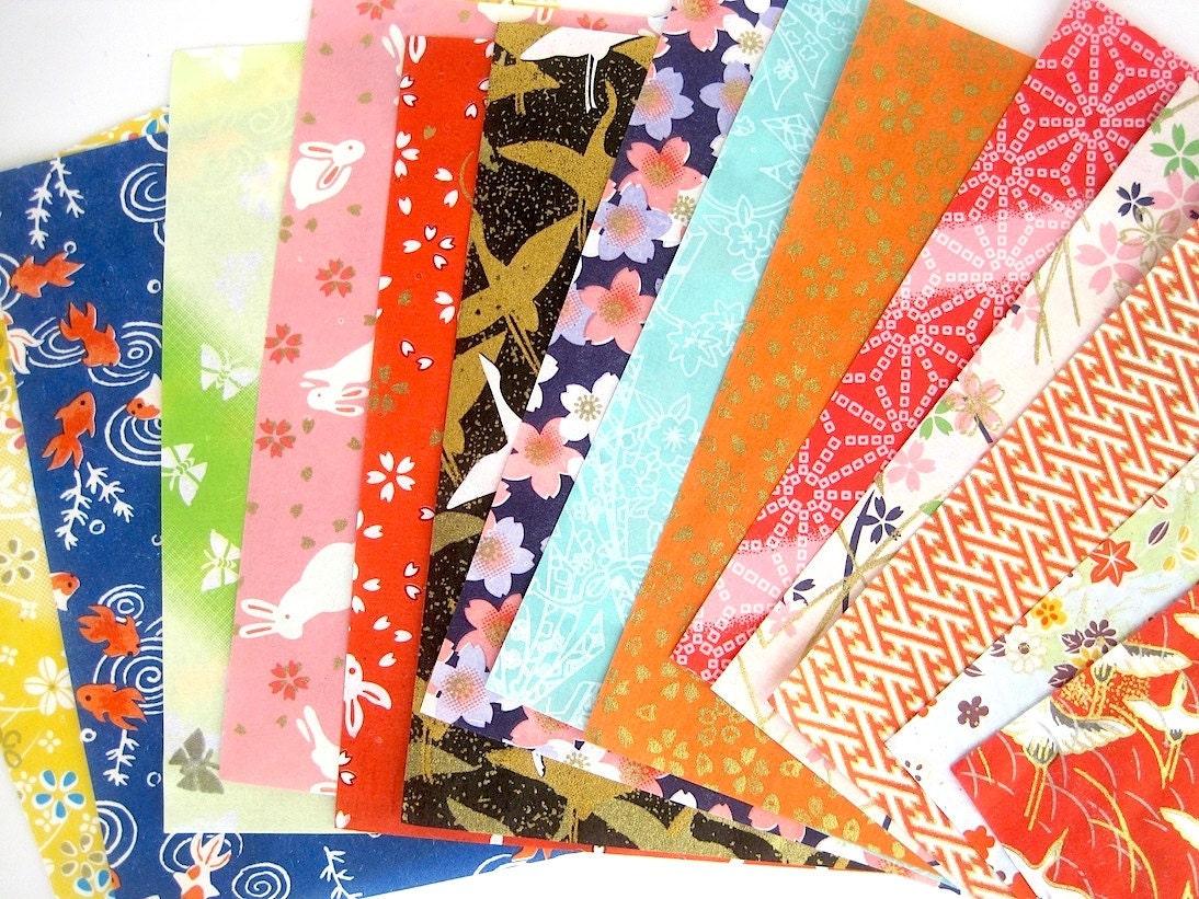Origami paper pack Yuzen japanese paper chiyogami scrapbook - photo#6