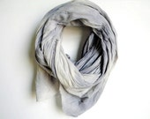 Naturally Dyed Cotton Scarf Pale Blue