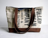 Recycled Lumber Apron Tote Bag