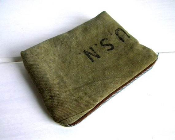 WWII US Navy Recycled Pouch