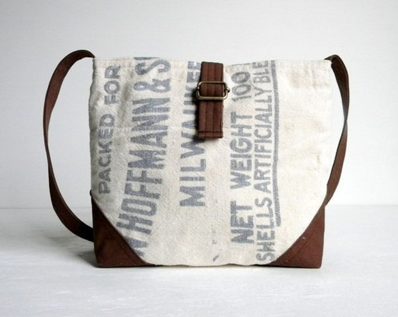 Recycled Cotton Sack Cross Body Day Bag