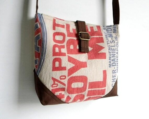 Recycled Cotton Bean Sack Cross Body Bag