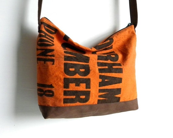 Recycled Lumber Apron Cross Body Bag