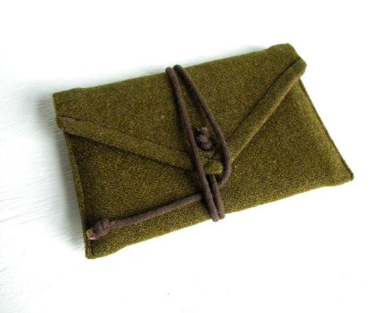 Recycled WWII Wool Wrap Passport Wallet