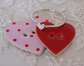 Heart ring, Silver ring with a small silver heart - perfect for Valentines day.