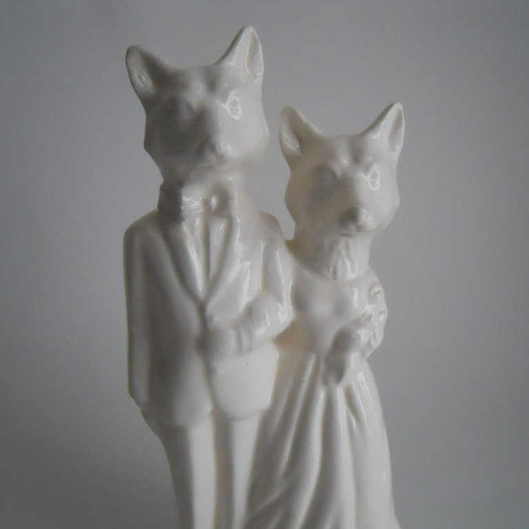 Etsy Handmade Ceramic Cake Topper Melabowed Fox