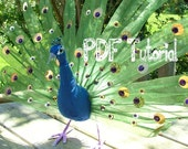 "Fabric Peacock (Bird) , ""How to make"" tutorial. Unusual sewing PDF pattern. INSTANT DOWNLOAD"