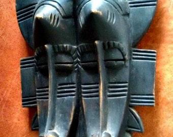 African Senufo Twin Kpelie Mask