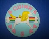 Fondant Cake Topper - Unicorn