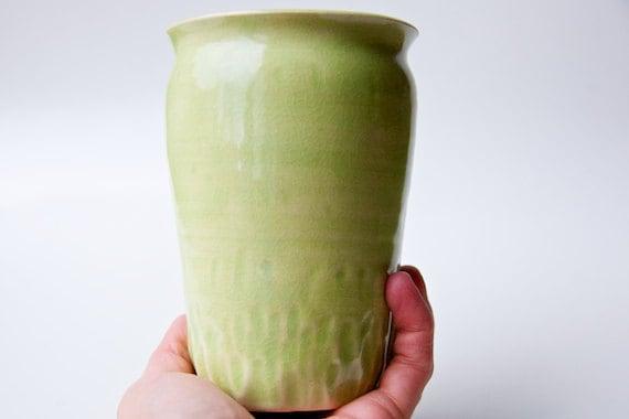 Ceramic Vase in Lime Green