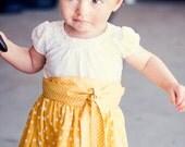 Yellow Taking Notes Toddler Skirt