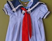 Vintage Toddler Sailor Dress