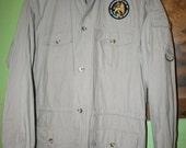 Rastafari Lion of Judah patch Safari jacket. A Brand new second hand.Cabella's.