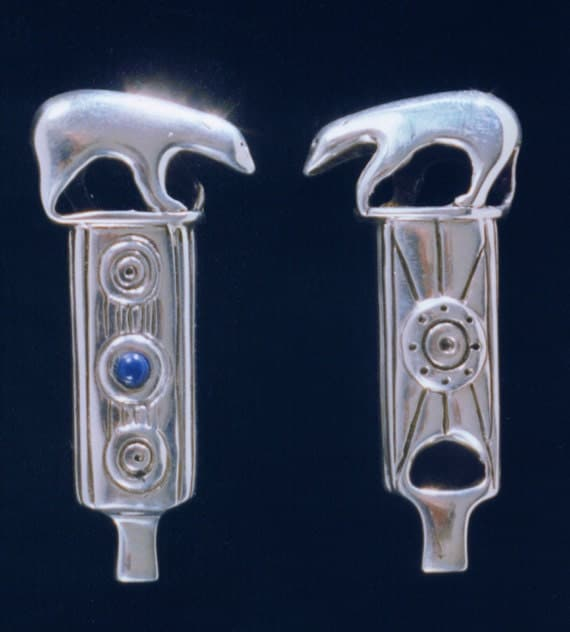 Totem Polar Bear Whistle with Lapis Lazuli
