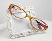 LemonDrop Handpainted Reading Glasses. Yellow And Orange Handpainted Reading Glasses. 175 Handpainted Reading Glasses