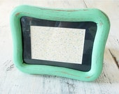 Sea Foam Mint 50s Green Shabby Chic Frame with Glass and Backing