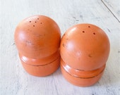 TANGERINE Shabby Chic Salt and Pepper Shaker Set